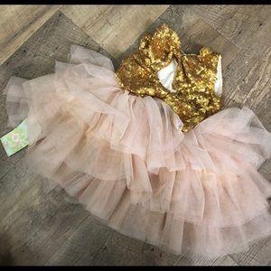 Little girls/baby sequin tulle dress